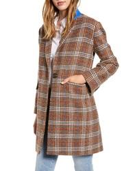 Court & Rowe Plaid Boucle Topper Coat