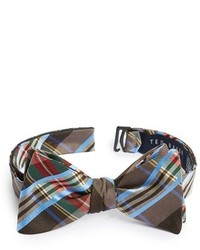 Brown Plaid Bow-tie