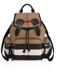 Burberry Medium Check Canvas Backpack