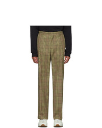 MSGM Beige Check Trousers