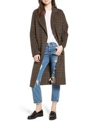 Avec Les Filles Avec Les S Double Face Plaid Wool Blend Coat