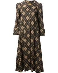 Biba Vintage Argyle Check Coat