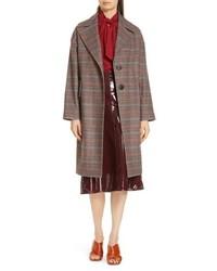 Lewit Plaid Coat