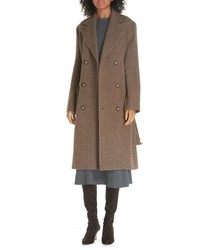 Polo Ralph Lauren Plaid Lambswool Alpaca Coat