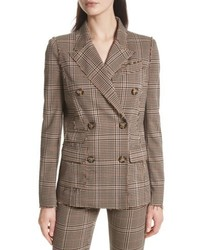 Tracy Reese Trcay Reese Double Breasted Plaid Blazer
