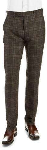 Black Brown 1826 Plaid Wool Dress Pants | Where to buy & how to wear
