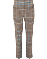 Givenchy Checked Wool Blend Straight Leg Pants