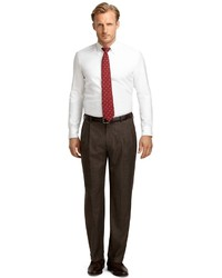 7e1af4f7bcbe Brooks Brothers Madison Fit Plaid Pleat Front Dress Trousers, $248 ...