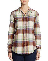 Flint flannel shirt medium 179473