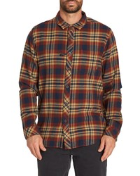 Billabong Coastline Plaid Flannel Shirt