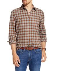 Fit Plaid Flannel Button Up Shirt
