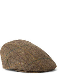 Brown Plaid Flat Cap