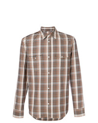 Distressed plaid shirt medium 7445425