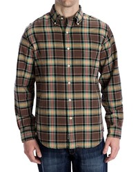Options Country Twill Plaid Shirt Long Sleeve