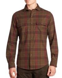 Plaid button down shirt medium 1197453