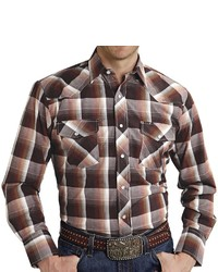 Roper Plaid Western Shirt Snap Front Long Sleeve