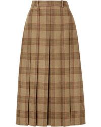 Gucci Checked Wool Midi Skirt