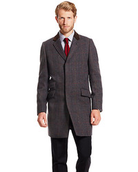 Brown Plaid Overcoat