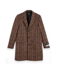 Scotch & Soda Houndstooth Plaid Overcoat