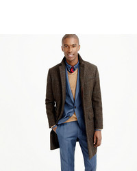 Ludlow topcoat in brown glen plaid english wool medium 386954
