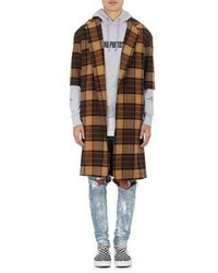 Purpose Tour Xo Barneys New York The Plaid Overcoat Brown