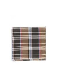 Original Penguin Butler Plaid Silk Pocket Square