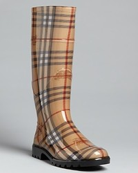 Burberry Rain Boots Haymarket Check Plaid