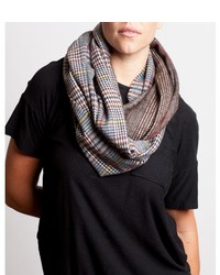 Brown plaid infinity scarf medium 379650