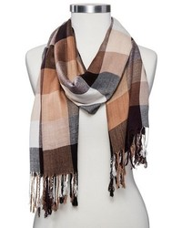 Sylvia Alexander Oblong Plaid Scarf