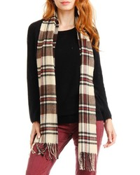 Violet del mar plaid cashmere scarf medium 6860326