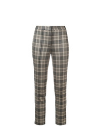 Adam Lippes Plaid Fitted Trousers