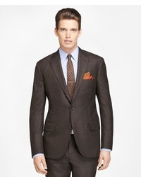 Brooks Brothers Own Make Plaid Deco Suit
