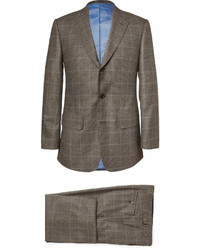 Lutwyche Brown Prince Of Wales Check Wool Three Piece Suit