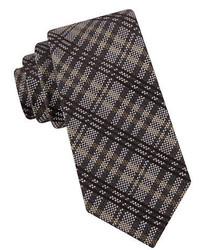 Black Brown 1826 Plaid Silk Blend Tie
