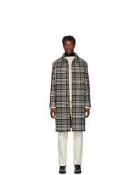 AMI Alexandre Mattiussi Off White And Black Wool Oversized Mac Coat