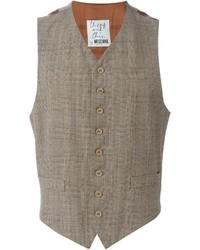 Moschino vintage checked tweed waistcoat medium 445491