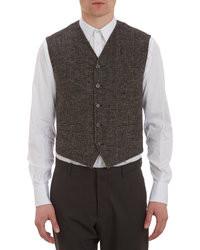 Dolce & Gabbana Tweed Plaid Waistcoat