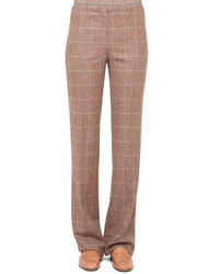 Akris Classic Plaid Flannel Pants Steppe