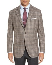 Flynn classic fit plaid wool sport coat medium 746343