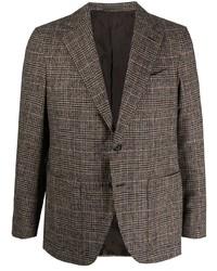 Caruso Plaid Single Breasted Blazer