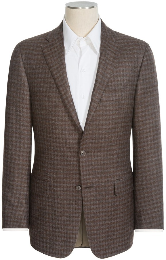 Hickey Freeman Brown Sport Coat - Men's Jacket 57C1yoiW5E