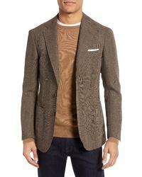 Ring Jacket Trim Fit Plaid Wool Sport Coat