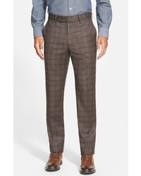 Bensol Trim Fit Plaid Wool Pants