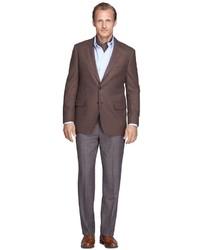 Brooks Brothers Madison Fit Merino Wool Plaid Trousers