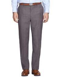 Brooks Brothers Madison Fit Merino Wool Plaid Trousers