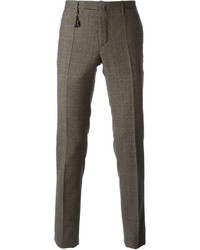 Checked slim fit trousers medium 136838
