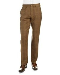 Black Brown 1826 Plaid Wool Dress Pants