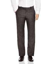The Store At Bloomingdales Wool Plaid Regular Fit Trousers