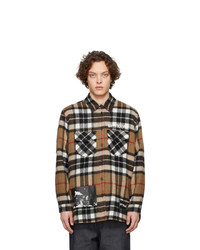 We11done Brown Check Shirt