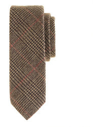 English wool tie in yorkshire brown glen plaid medium 11379